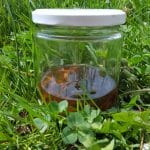 Potato sprouts tincture for arthritis in the grass.