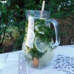 Homemade herbal infused water.