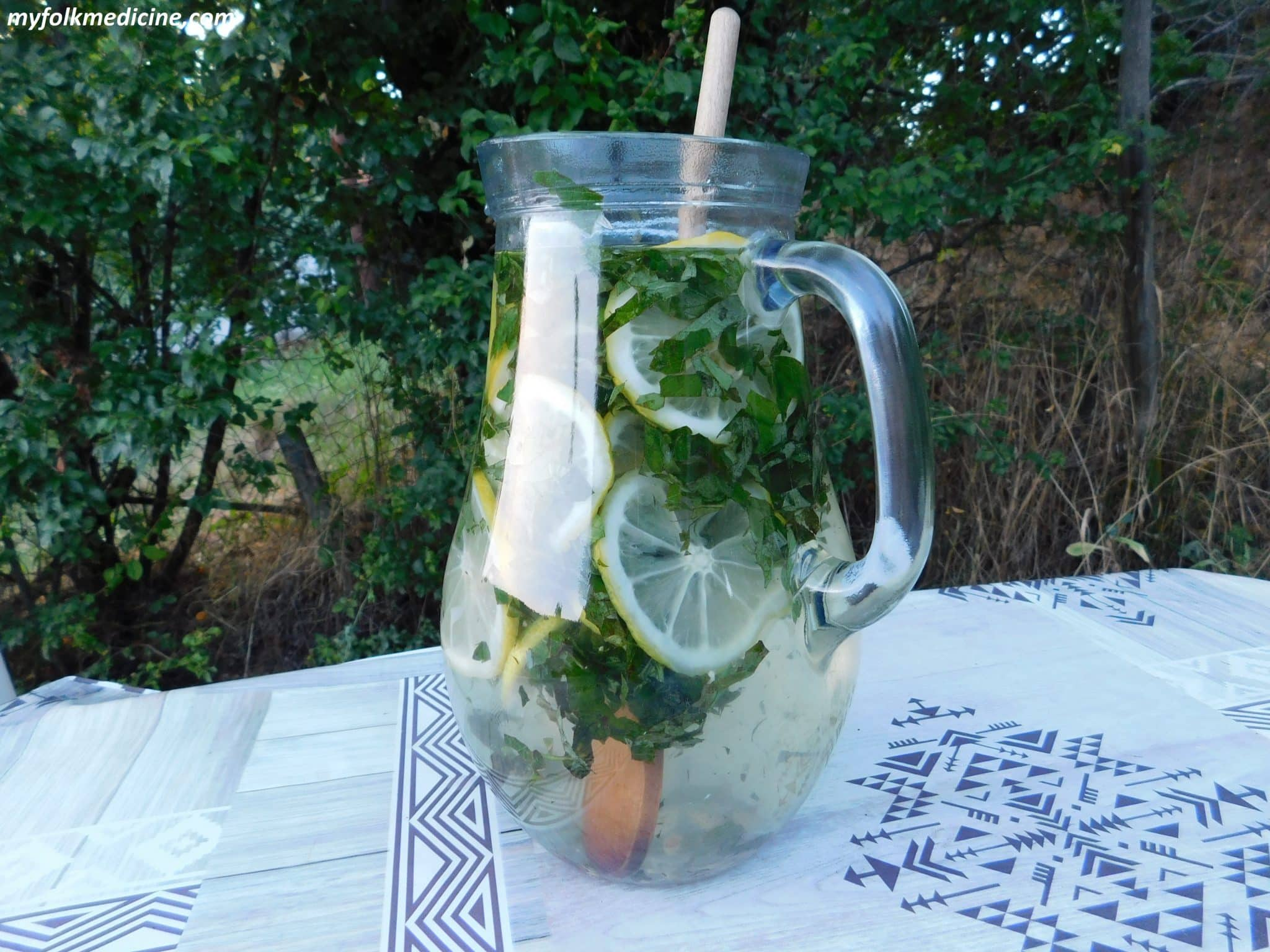 Herbal Infused Water With Mint And Lemon Balm