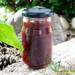 St. John's Wort Red Tincture in a jar.